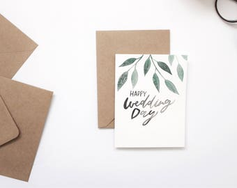 WEDDING CARD, hand lettered card, greeting card.