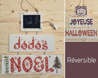 Reversible Halloween - Christmas decoration