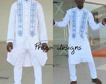 African men wear, groom's men outfit, African clothing, embroidery designs, fashion designs, Dashiki, Men dashiki, Men Pajamas