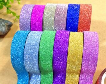 Glitter adhesive tape - 15 mm x 4 m - purple