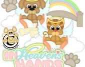 Digital Pet Loss/Heavens Hands Scrapbooking Clipart Instant Download