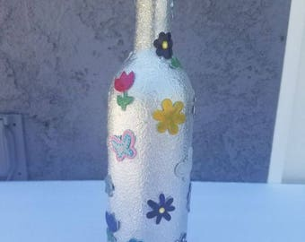 Custom decorative glass bottle