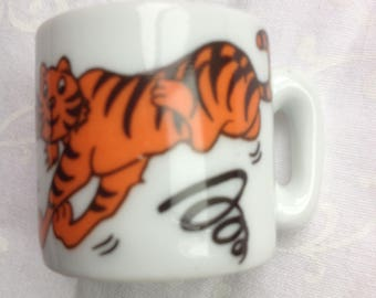 Vintage collectible miniature tiger mug