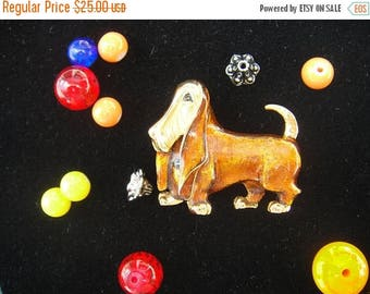 CIJ D'Orlan Brooch-Basset Hound Brooch Pin-Dog Brooch Pin-Dog Lover's-Vintage D'Orlan Basset Hound Brooch Pin-Great Birthday Gift