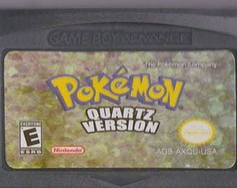 Gameboy Advance Game Boy GBA Pokemon Quartz Customized