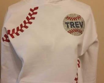 Baseball or Softball Hoodie, Baseball Hoodie, Softball Hoodie, Baseball Mom Hoodie, Softball Mom Hoodie, Baseball Sweatshirt,