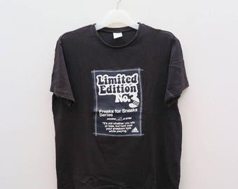 Vintage ADIDAS Triline Sportswear Black Tee T Shirt Size L
