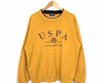Rare!! Vintage USPA Polo Association Sweatshirt Size XL
