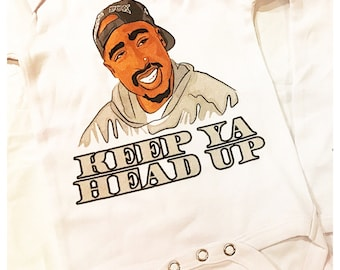 Tupac Baby Onesie - Made to Order