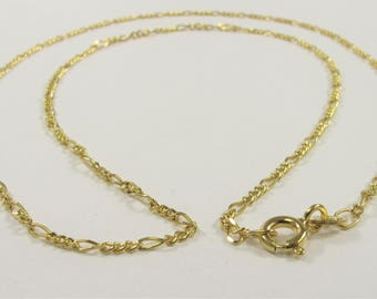 16 inch 14k Gold Chain Necklace with Spring Clasp, Genuine Solid 14k Gold Chain Necklace, Plain 14k Gold Necklace, Gold Necklace (627-SNK16)