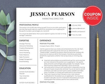 resume template minimalist resume professional design resume templates modern resume design cv template marketing professional resume - Marketing Professional Resume