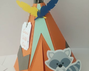 favor box - party box teepee x10