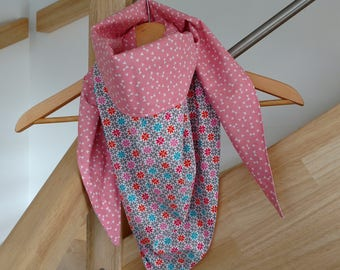Bibbed cotton triangle scarf. One size