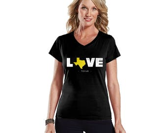 Love Texas Lady's Modern Fit V-Neck T-Shirt