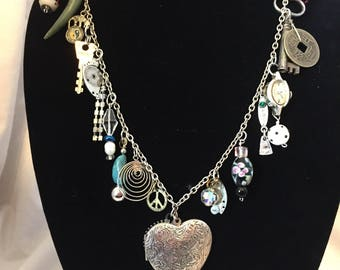 Steampunk Necklace Heart out of Time