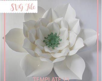 SVG Paper Flower, Flower Template, Paper Flower Template, Giant Paper Flower Template, DIY, Base and Instruction Including