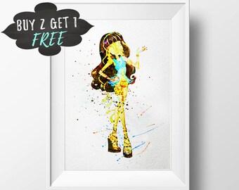 Monster High Printable, Cleo De Nile Monster High Favor, Monster High Baby Shower Decor, Monster High Digital, Monster High Wall Art Print