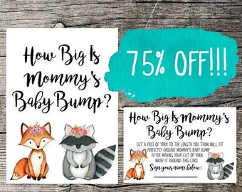 How Big is Mommy's Belly, Mommy's Belly Game, Baby Shower, Baby Shower Games, Baby Shower Printables, Baby Shower Game, Pink Baby Shower