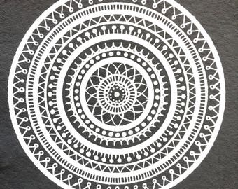 Mandala print / mandala / poster / boho / bohemian / decoration / print / card / handmade / handcrafted / art / drawing / hippie