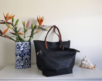 Italian Leather 3 in 1 Handbag