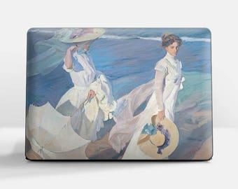 "Laptop skin (Custom size). Joaquin Sorolla, ""Walk on the Beach"". Laptop cover, HP, Lenovo, Dell, Sony, Asus, Samsung etc."
