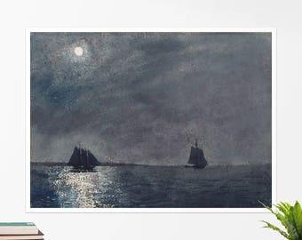 """Winslow Homer, """"Eastern Point Light"""". Art poster, art print, rolled canvas, art canvas, wall art, wall decor"""