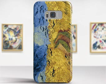 "Vincent van Gogh, ""Wheat Field with Crows"". Samsung S8 Case, Samsung S7 Case, Samsung S6 Case, Huawei, LG, Google Pixel Cases."