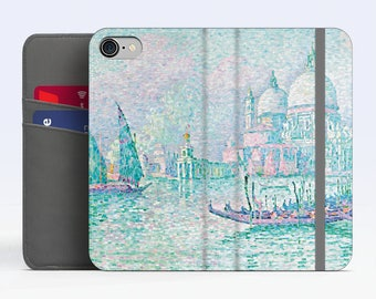 "Paul Signac, ""Venise, La Salute"". iPhone 8 Wallet case, iPhone 7 Wallet case  iPhone 6 Plus Wallet case. Samsung Wallet cases."