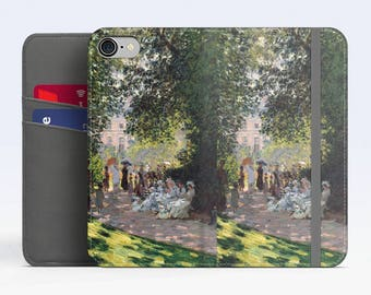 "Claude Monet, ""The Parc Monceau"". iPhone 8 Wallet case, iPhone 7 Wallet case  iPhone 6 Plus Wallet case. Samsung Wallet cases."