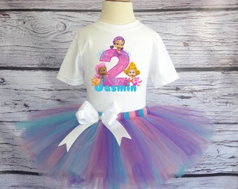 Bubble Guppies Tutu Outfit Bubble Guppies Shirt Bubble Guppies Birthday Outfit Bubble Guppies Personalized Tutu Bubble Guppies Custom Tutu