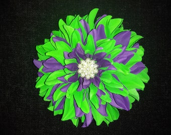 Green and Emerald Floral Brooch