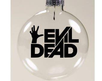 Evil Dead Christmas Ornament Glass Disc Holiday Horror Black Friday Merch Massacre