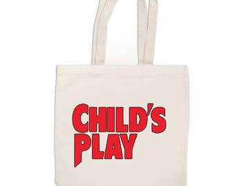 Childs Play Chucky Horror Canvas Tote Bag Market Pouch Grocery Reusable Merch Massacre Black Friday Christmas
