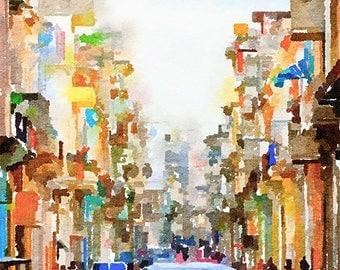 Havana Cuba  Painting Postcard Poster Art Print Q119