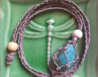 Light Brown Hemp Adjustable Interchangeable Necklace