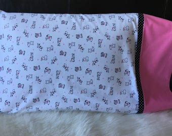 Puppy Love Pillowcases/Valentines Day/pillowcasesforcancer/Puppies/Childhood Cancer Donation with each purchase!