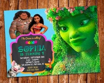 Moana Invitation, Moana Birthday Invitation Printable, Moana Birthday Card, Moana Printables, Moana Invite, Moana Birthday Invitation, Moana