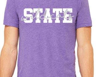 State Wildcat T-Shirt / State Shirt / Wildcats T-Shirt / Kansas Shirt / Gifts For Her / Football Shirt / Graphic Tees / Graphic T-Shirt /