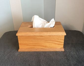 Full size tissue box holder