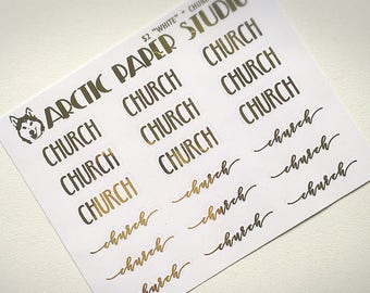Church SCRIPTS - FOILED Sampler Event Icons Planner Stickers