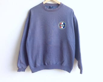 USA Stussy! The famous STUSSY big logo sweatshirt at the back gray colour large size original made in USA