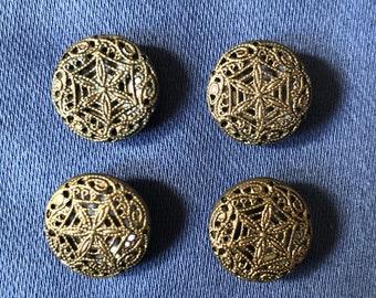 Four Beautiful Brass Buttons