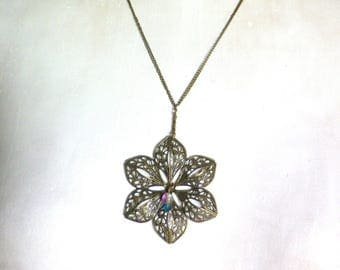 romantic flower shaped pendant filigree