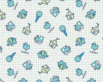 FREE GIFT with Purchase - Blue Mini Fun Fair by Melly & Me for Ella Blue/Cotton/Fabric/Sewing/Quilting