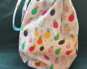 Reversible WIP Project Bag Pineapple and Watermelon