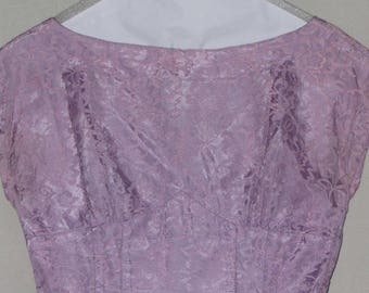 Vintage 50s – 60s Lavender Illusion Wiggle Dress