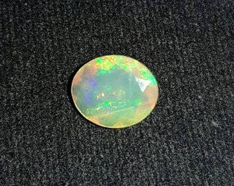 Natural Ethopian Opal Gemstone Cutting Oval 1.20 Cts. Size 8 X 10 X 5 MGJ 79