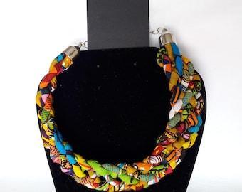 Female multiple Weave braid necklace