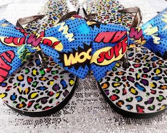 Pow!!! Wow!! Wham!Flip flops
