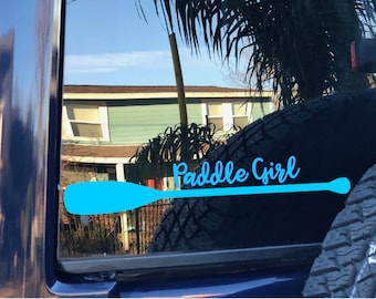 Custom Decal | Paddle Girl | Kayak Paddle Decal | Canoe Paddle Decal